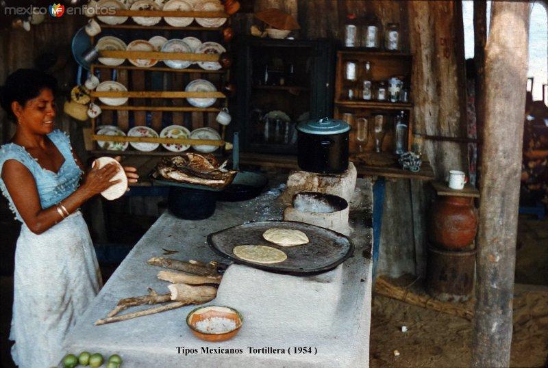 Tipos Mexicanos Tortillera 1954..