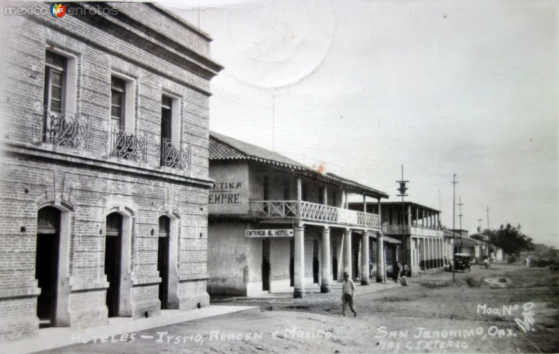 Hoteles de Turismo Aragon y Mexico. ( Circulada el 11 de Agosto de 1941 ).