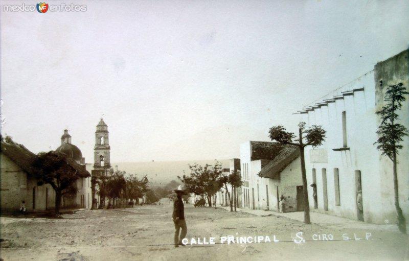 Calle Principal de San Ciro San Luis Potosi.