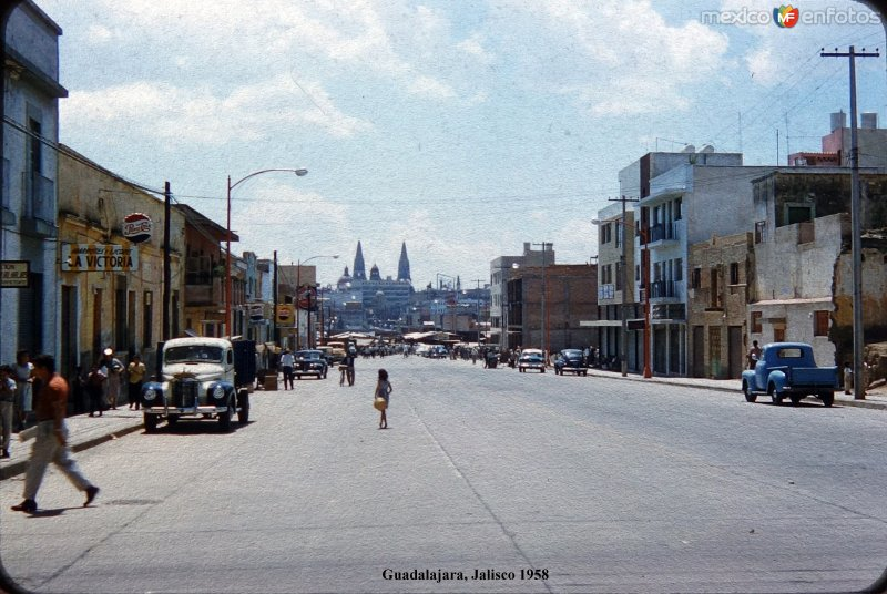 Una Avenida Guadalajara, Jalisco 1958.