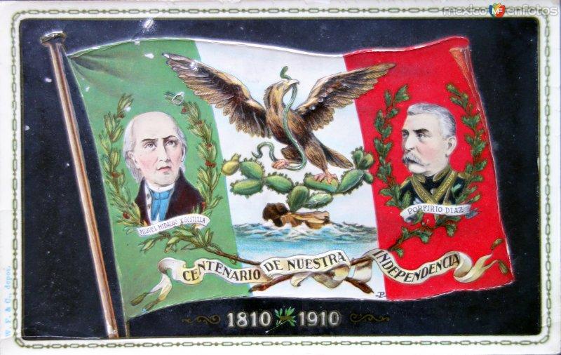 Postal Conmemorativa con motivo del Centenario de nuestra Independencia ( Septiembre de 1910)