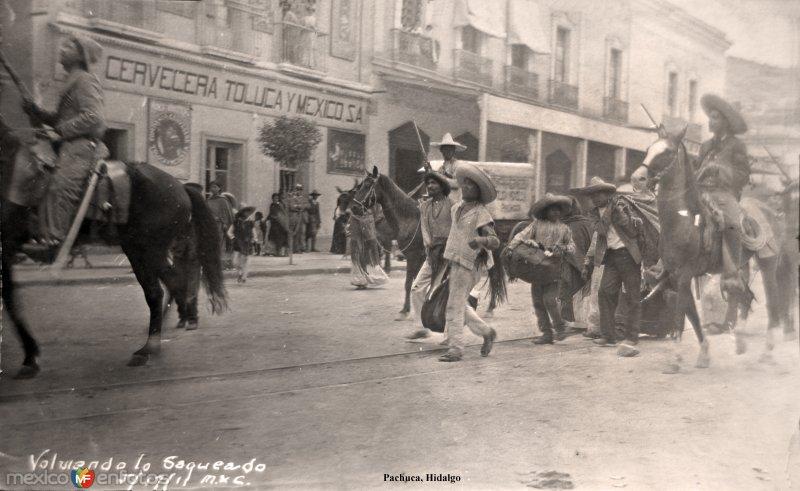 Devolviendo lo saqueado  durante La Revolucion Mexicana ( Fechada el 11 de Marzo de 1911 ).