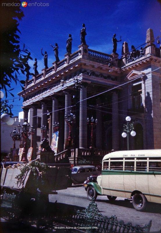 El teatro Juarez de Guanajuato 1946.