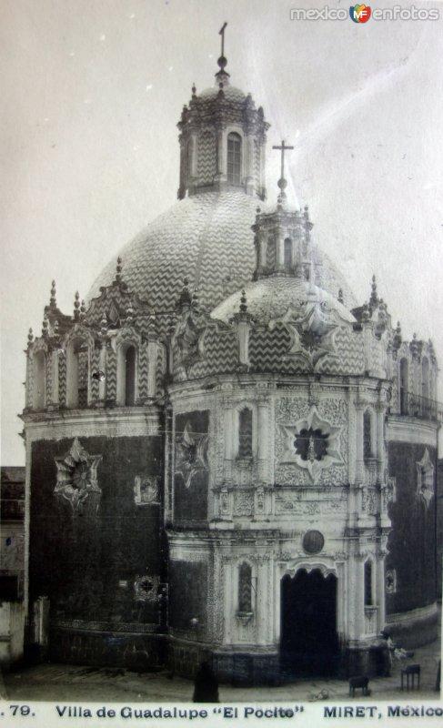 Villa de Guadalupe el Pocito por el Fotógrafo Félix Miret ( Circulada el 8 de Diciembre de 1908 ).