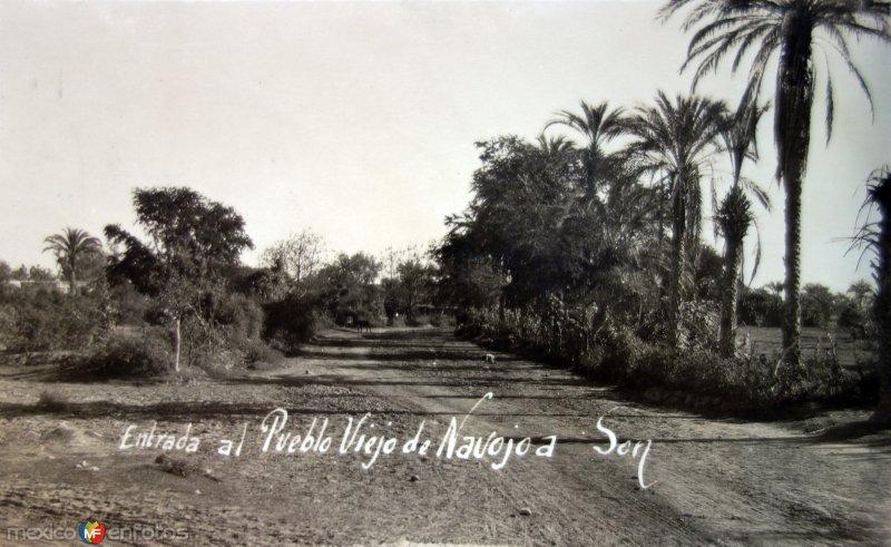 Entrada al pueblo viejo 1924