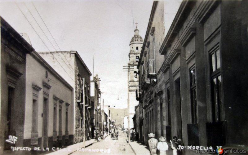 Aspecto de La Calle Matamoros ( Circulada el 7 de Agosto de 1931 ).