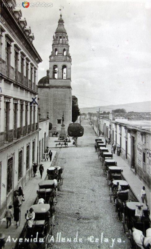 Avenida Allende.( Circulada el 27 de Agosto de 1927 ).