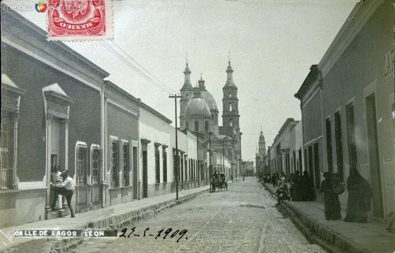 Calle de Lagos ( Circulada el 27 de Mayo de 1909 ).