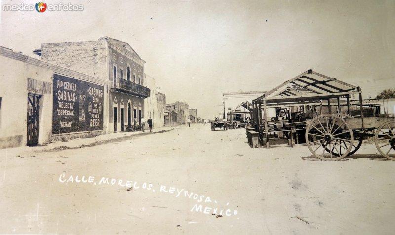 Calle Morelos ( Circulada el 1 de Octubre de 1926 ).