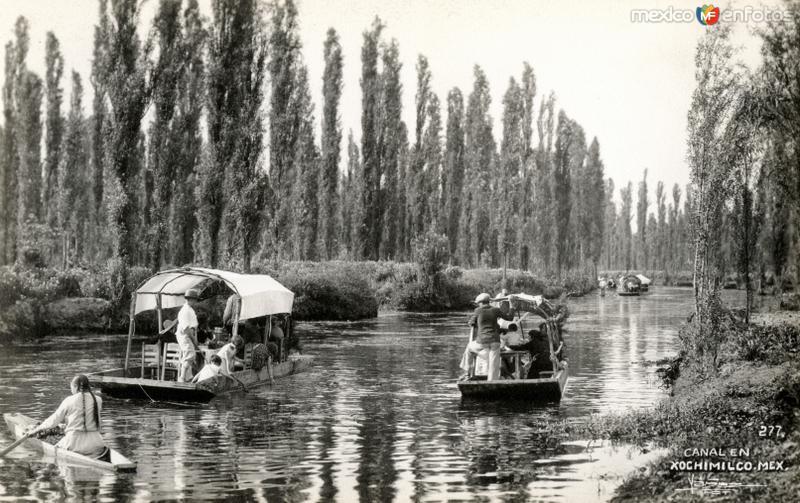 Canal en Xochimilco