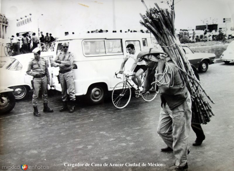 Tipos Mexicanos Cargador de Cana de Azucar Ciudad de México.