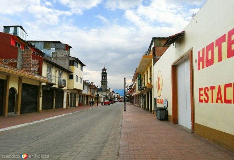 Vista de la Calle de La Inmaculada en Semana Santa 2020.