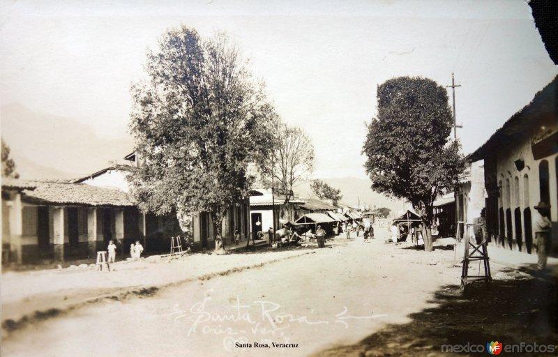 Escena callejera  de  Santa Rosa, Veracruz.