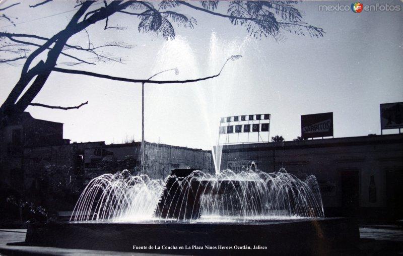 Fuente de La Concha en La Plaza Ninos Heroes Ocotlán, Jalisco.