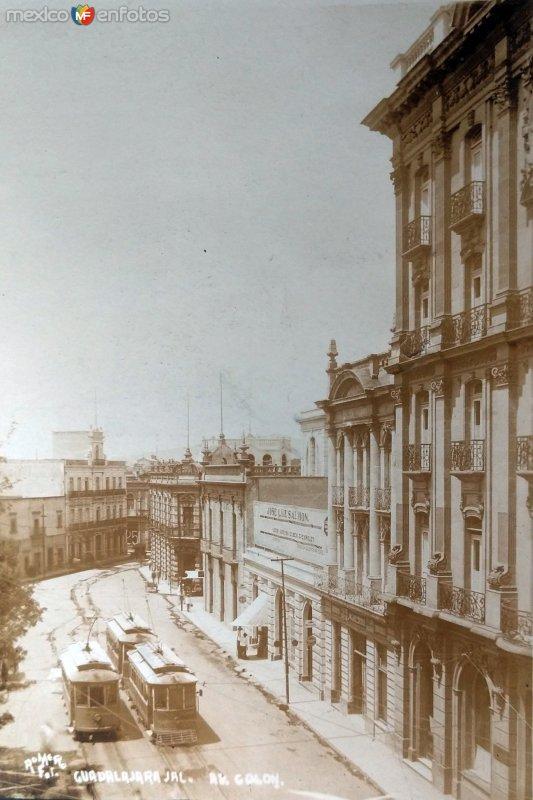 Avenida Colon ( Circulada el 7 de Noviembre de 1923 ).