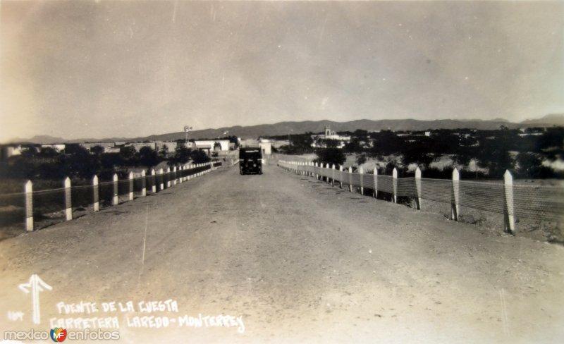 Puente de La Cuesta Carretera Monterrey-Laredo.