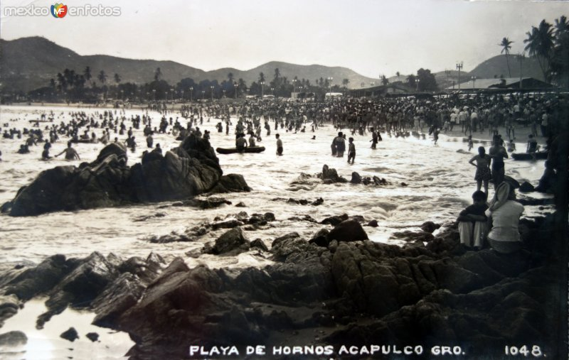 Playa de Hornos ( Circulada el 2 de Agosto de 1955 ).