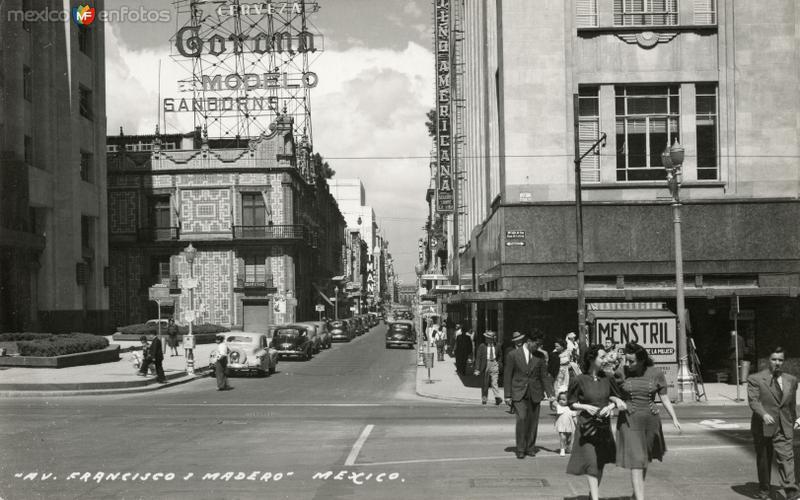 Avenida Francisco I. Madero y cruce con San Juan de Letrán
