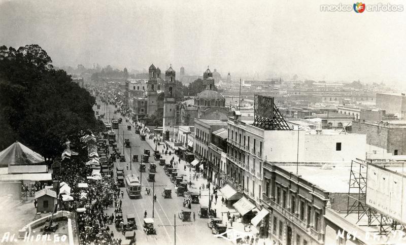 Avenida Hidalgo, vista panorámica