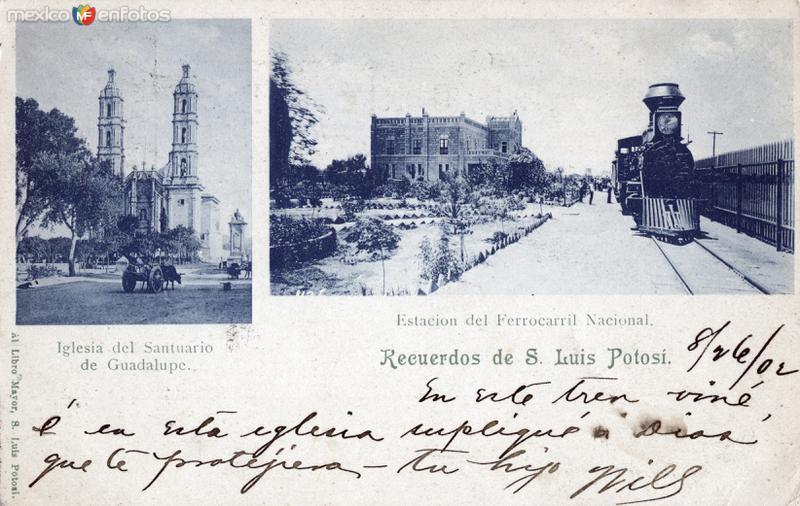 Estación del Ferrocarril Nacional y Santuario de Guadalupe