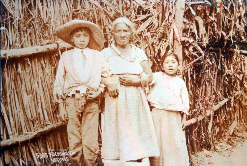 Xochimilco Vecinos pr el fotografo Hugo Brehme.