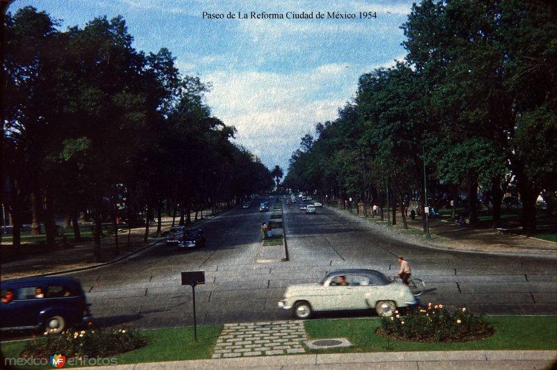 Paseo de La Reforma Ciudad de México 1954