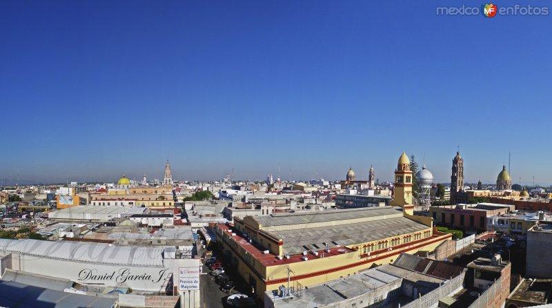 Panorama del bello centro histórico de Celaya