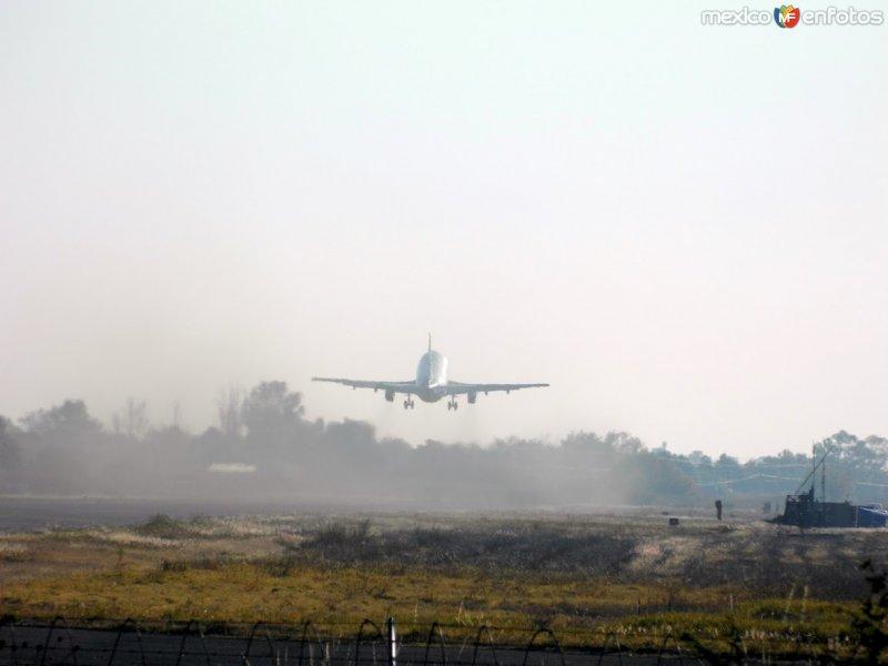 Despegando del aeropuerto de Celaya
