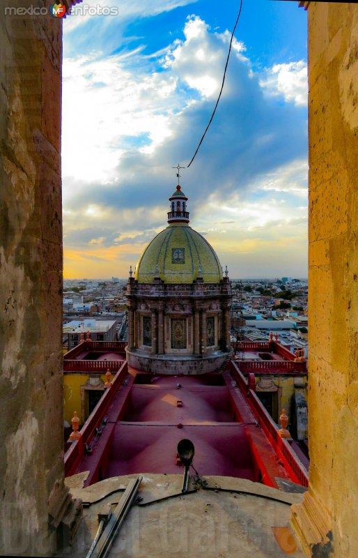 Cupula del templo de El Carmen.