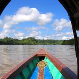 Barca sobre el río Usumacinta