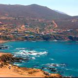 Vista panorámica del pueblo de La Bufadora