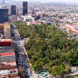 Vista aérea de la Alameda Central