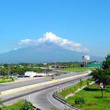 Vista del Volcán de Fuego desde Colima