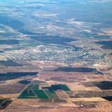 Vista aérea del área de Jiménez