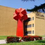 Biblioteca de Ciencias y escultura La Palma