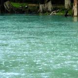 Lluvia sobre el río El Naranjo