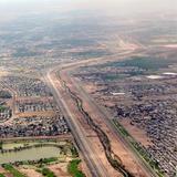 Vista aérea sobre el Río Bravo