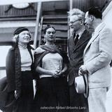 Frida Kalho y Leon Trotsky en el puerto 1936