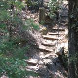 Escaleras camino a la Cascada de Cusárare