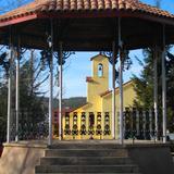 Kiosko en la Plaza Principal de Creel