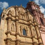 Santuario de Nuestra Señora del Carmen. Fachada churrigueresca
