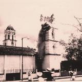 """1960-65, Demolición de la antigua parroquia """"San Martín Obispo""""."""