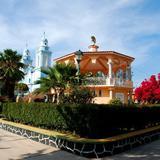 Kiosko y Parroquia de San Sebastián Tecomaxtlahuaca