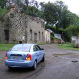 Ruinas de ex-hacienda y cascada. San Baltazar Atlimeyaya, Puebla