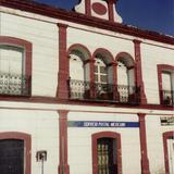 Fachada del antigüo palacio municipal, hoy edificio de correos. Huitzuco, Gro.