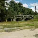 Puente colonial en Santa María Atlihuetzía, Tlaxcala.