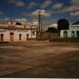 Plaza principal y casas antigüas. Santa María Atlihuetzía, Tlaxcala