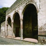 Capilla abierta anexa al Ex-convento del siglo XVI. Santa María Atlihuetzía, Tlaxcala