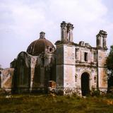 Ruinas del templo de la Ex-hacienda en Tetlatlahuca, Tlaxcala