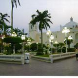 Parroquia y zócalo de la ciudad de Alvarado, Veracruz